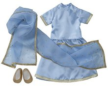 "Starpath Dolls 18"" Doll Clothes Sky-Blue Indian Sari"