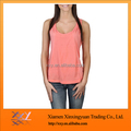 Customize pink color women V-neck vest