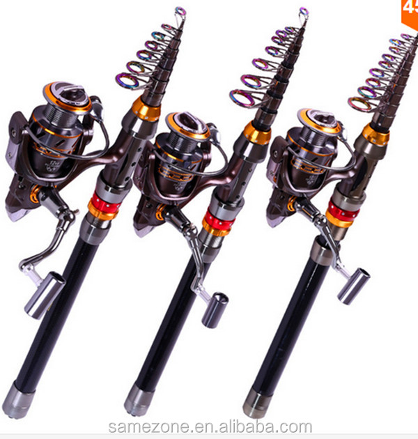 Lowest Profit 1.8-3.6M Carbon Telescopic Fishing Rod And 13BB Spinning Fishing Reel Fishing Tackle Set Kit Vara De Pesca
