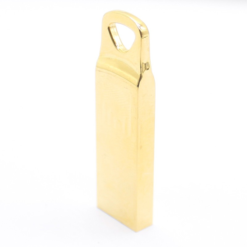 Wholesale Triangular Hollow Golden Metal USB Flash Disk with 4GB 8GB 16GB 32GB Memory Stick Pen Drive