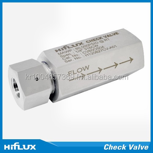 [HIFLUX] High Pressure Check Valve - O-Ring Type