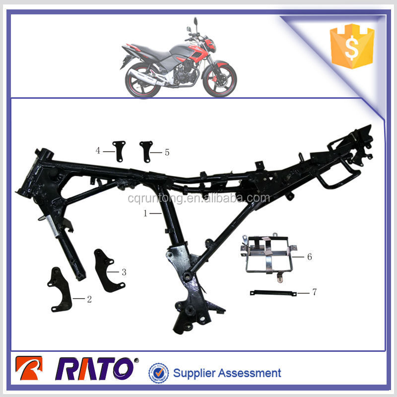 ITALIKA FT180 motorcycle main body frame, motorcycle footrest, motorcycle engne hanger