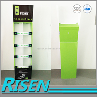 foldable retail shop 8 cells promotional plastic floor display stand for mobile accessories
