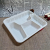 Eco-friendly corn starch disposable 4 compartment food tray with lid