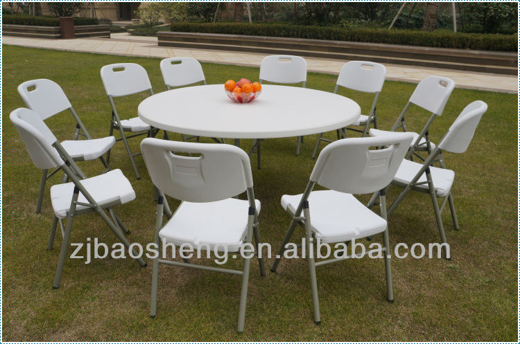 5FT plastic dinner round table
