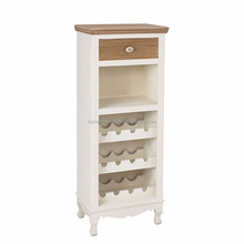 Charente Shabby Chic Tall Drinks Cabinet & Wine Rack