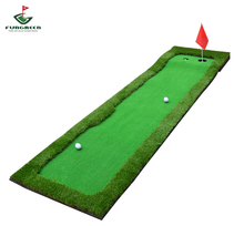 Outdoor indoor golf putting green 2 color and 4 color golf simulated green imported grass golf putting mat