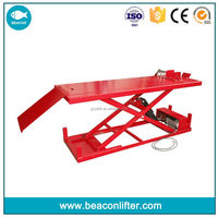 Design hot sale scissor hydraulic air motorcycle lift