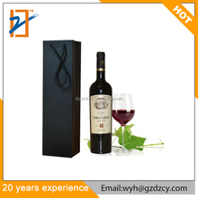 Manufacturer Matt Black Cardboard Wine Packaging Single Bottle Holder Paper Gift Bags For Wedding Christmas