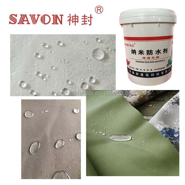 Water Based Nano Waterproof Spray Coating for Textile