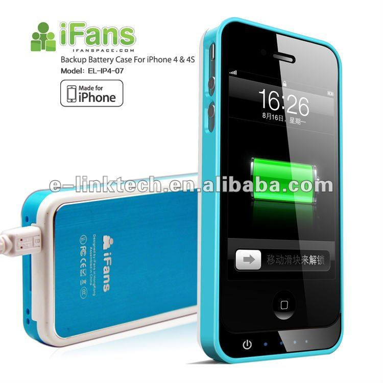 For Apple iPhone rechargeable Power Bank Backup Battery Case with MFI certificate, 1 year warranty