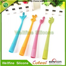 Colorful creative silicone pen for school student