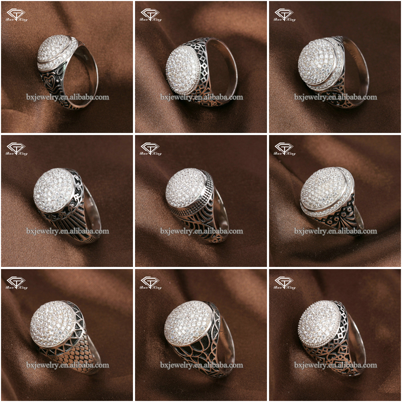Alibaba express china wholesale fashion jewelry men stone silver ring