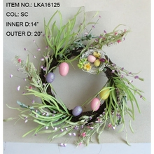 Wholesale2017 New Decoration Easter Egg Wreath with Bird Nest