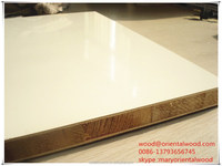 high glossy polyster facatal core block board for furniture