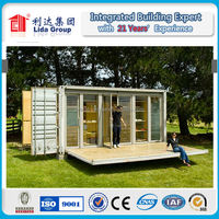 prefabricated contianer homes with solar panel prefab container house