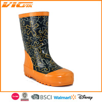 fashionable ladies plastic rain boots cheap kids women low cut