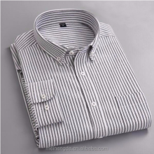 Latest <strong>Design</strong> 2017 Autumn Oxford Men Business Casual Shirts Stripe Plaid Men Dress Shirts High Quality Cotton Long Sleeve Shirts
