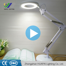 VAPAI Eye Protection foldable desk table light smart devices charging glass magnifying led lamp