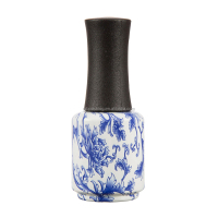 wholesale 15ml round blue and white porcelain coating uv gel nail polish bottles new product unique design with cap and brush