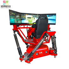 6 DOF Dynamic racing game, 3 screen car racing games driving simulator