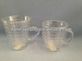 Hot sell clear glass espresso tea cups for coffee