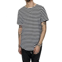 <strong>Men</strong> <strong>apparel</strong> new model <strong>men's</strong> t-shirt slub stripes t shirt design wholesale price light blue/white stripes