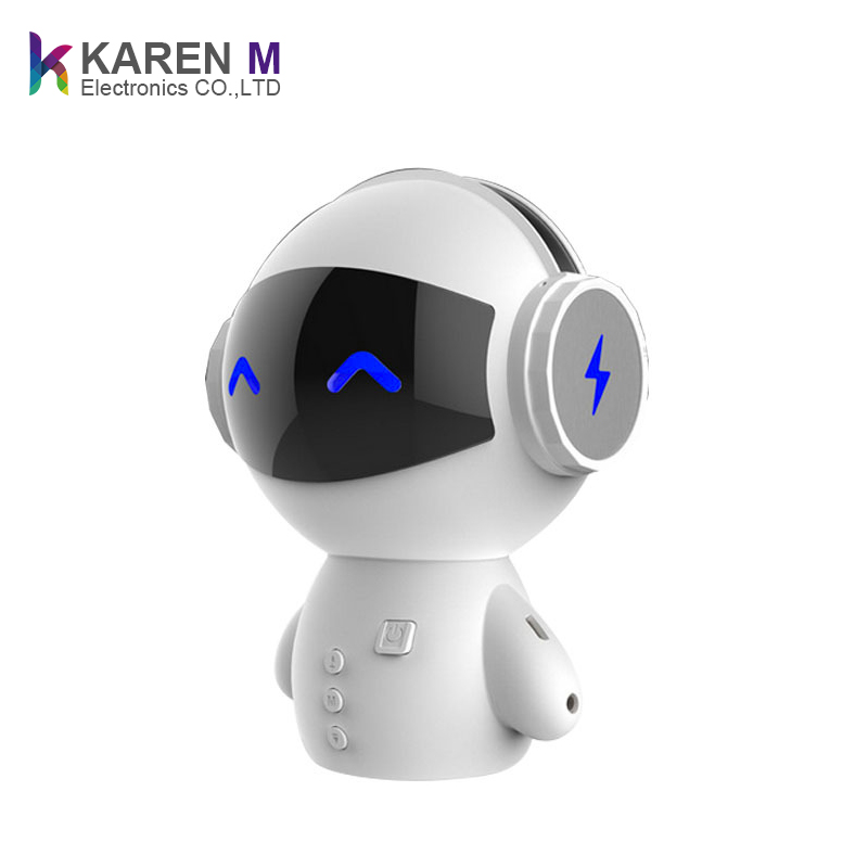 Vintage Mini Portable Robot Smart Blueototh Speaker Support Calls Handsfree TF MP3 and Power Bank Function for Bluetooth Phones