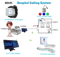 Nurse Call Light Systems K-4-Cblue K-W2-H K-300plus K-3L Nurse Call System Push Button And Wrist Watches