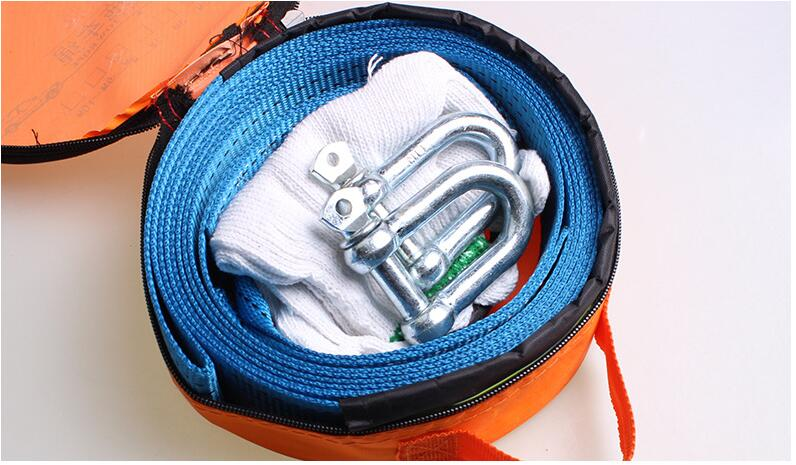 emergency tow rope, EMERGENCY TOW CABLE TOWING STRAP ROPE WITH HOOKS FOR 8 Ton