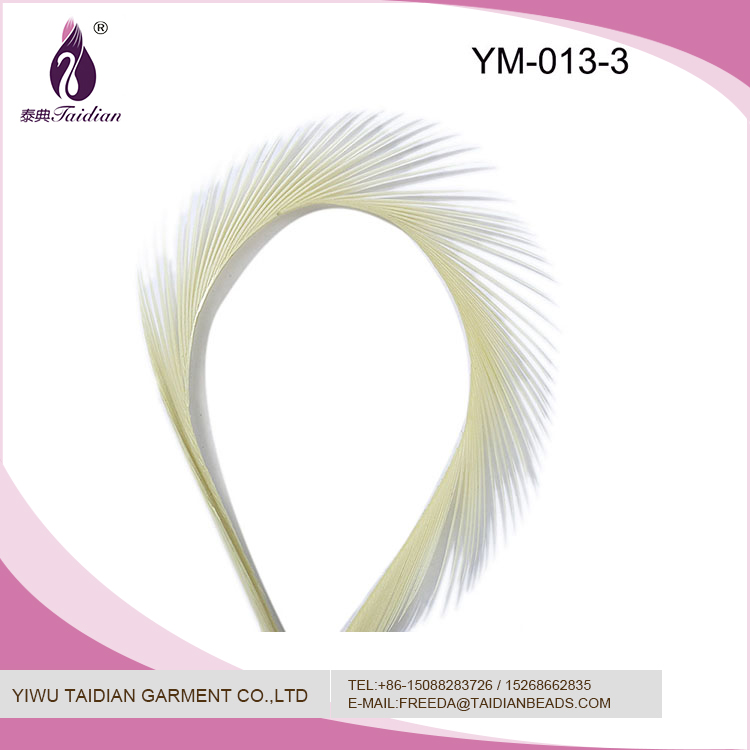 Factory Direct Artificial New Design Color Glitter Goose Feather