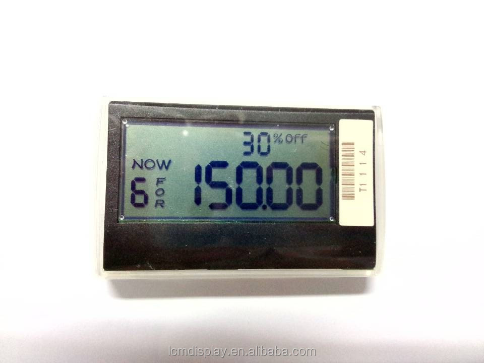 ESL pod lcd segment dot-matrix electronic shelf label,good e-ink price lable lcd display, made in china zhejiang factory