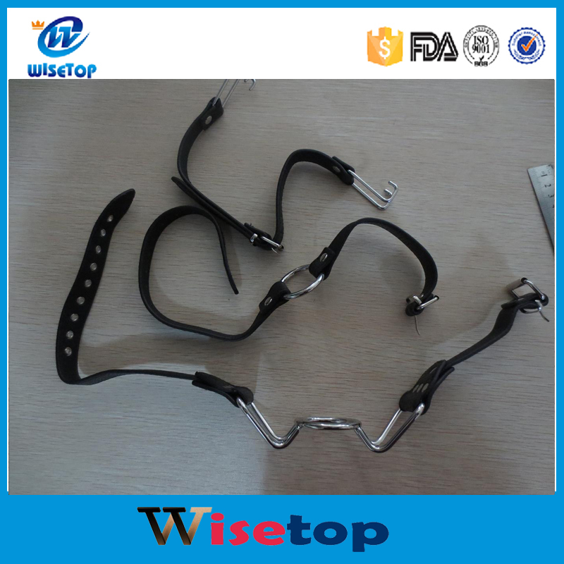 FBA Service Leather sex toys Ring Gag For Adult Games,Fetish Oral Sex Products Toys For Women