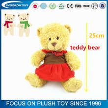 custom stuffed wearing red skirt plush funny teddy bear with shirt