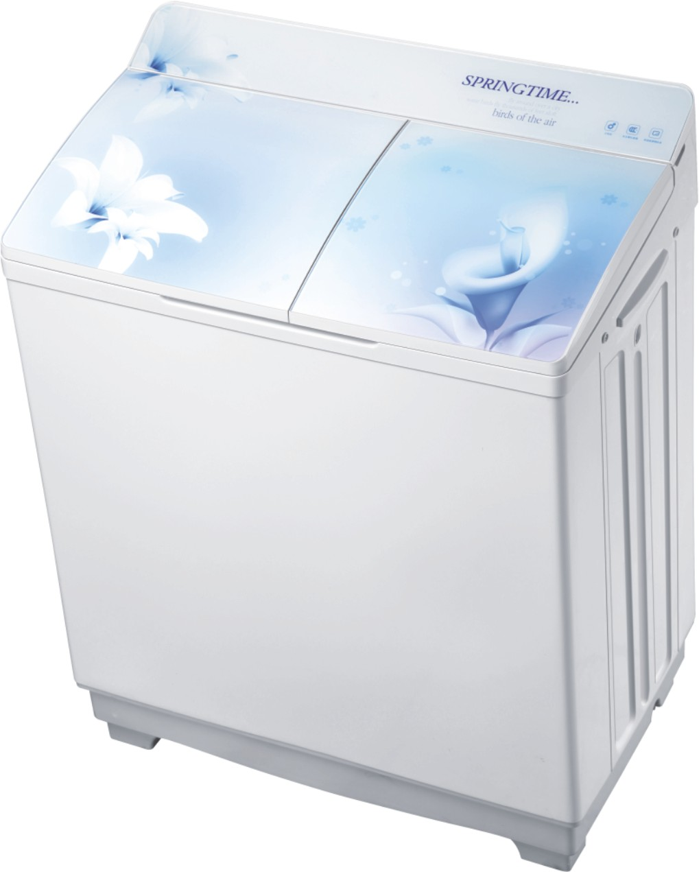 twin tub washing machine, XPB95-8950S( Arc tempered glass cover)