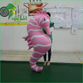 PVC Type Pink Inflatable Sea Horse Model , Custom Inflatable Animal For Events