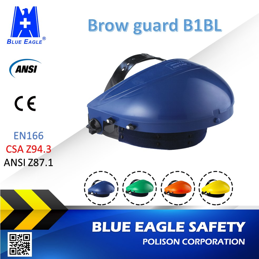 Blue Eagle Safety ABS Face Shield Browguard + Ratchet Headgear