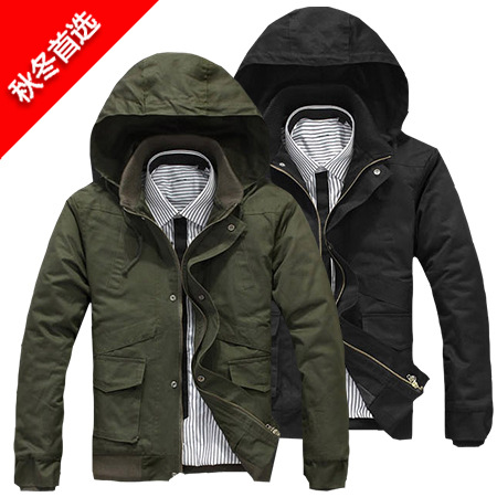 Alibaba Express China 2016 Winter Men's Quilted Ski Thick Jacket