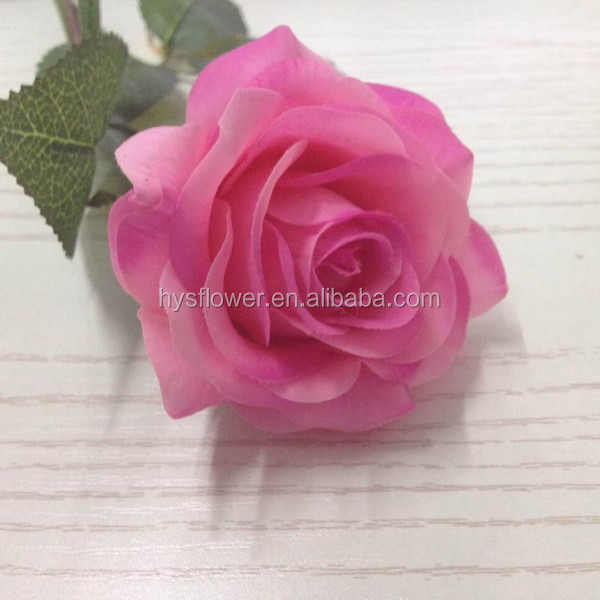 flowers artificial decoration single stem real touch small light purple rose fabric rose