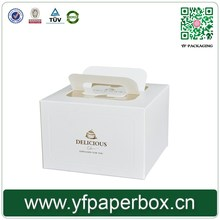 Wholesale Cheap Custom Handle paper cupcake box with window