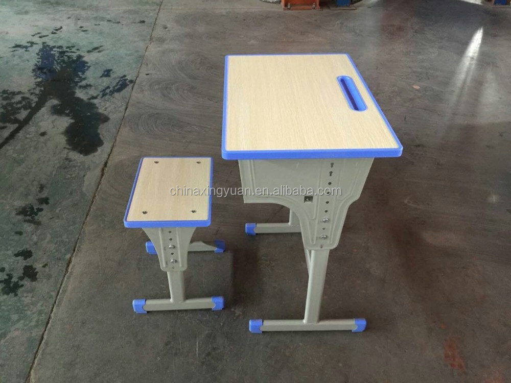 Practical detachable structure single seat school desk and chair