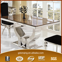 TH345 Modern design stainless steel dining room table