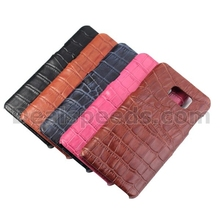 Levanpro With Card Slot Alligator Grain Real Genuine Cattlehide Back Case for Samsung Galaxy Note 5