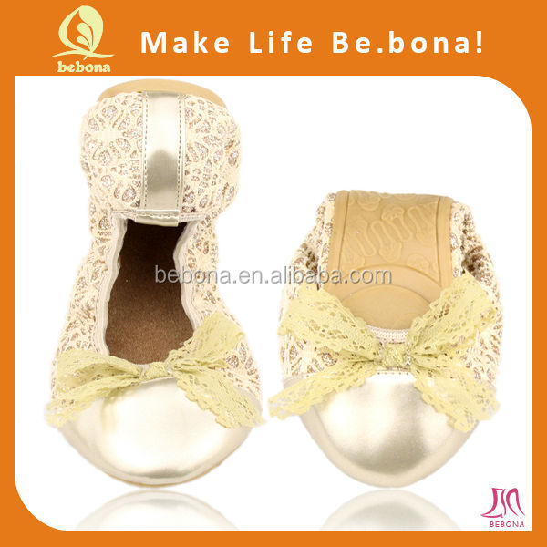 Chinese online hot sale shoes large size lady ballerina shoes