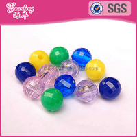 Wholesale Custom Colorful Round Faceted Plastic Beads