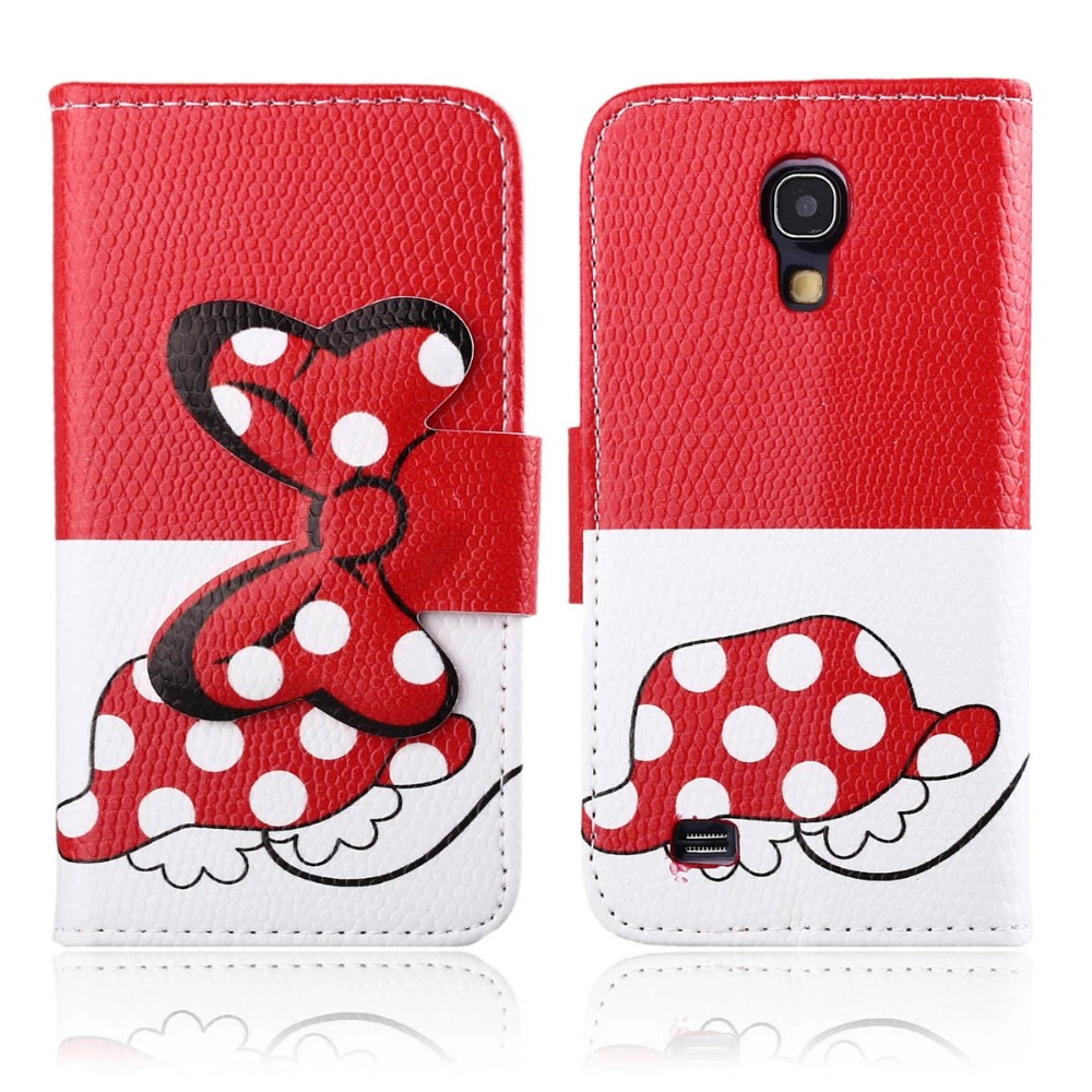 For Samsung Galaxy S4 mini leather mobile phone stand wallet cases bowknot cell phone flip cover with card holder