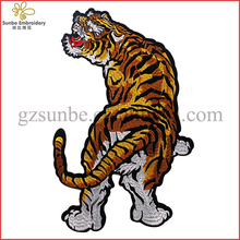 Tiger Clothes Patches Embroidery Animal Large Applique Scrapbooking 33.5cm*22cm Sew on Patch Sewing Accessories Can be Customize