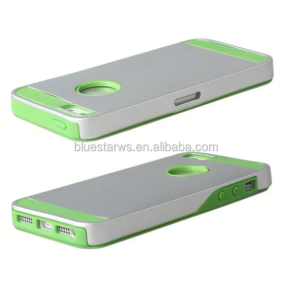 Mobile Phone Accessories metal + tpu cell phone case for iphone 5 tpu and metal case for iphone 5