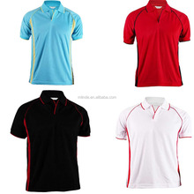 OEM Golf Clothing Men's Polo Shirt 100% Coolon Polyester Fabric V-neck Buttonless Golf Polo Tee Shirt