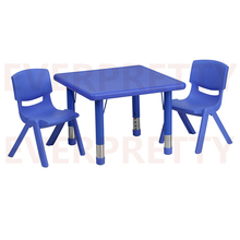 Adjustable daycare double classroom chair set